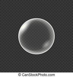 realistico, acqua, isolato, bolle