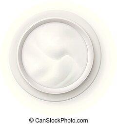 realistico, cima, vaso, cosmetica, crema