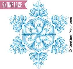 realistico, fiocco di neve, composizione