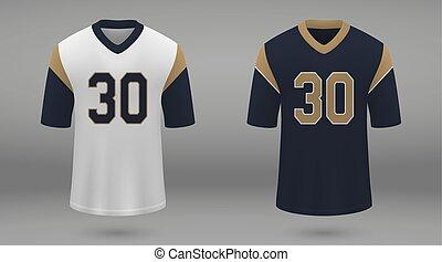 realistico, jersey, football americano