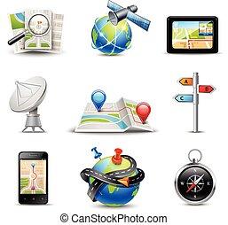 realistico, navigazione, icone