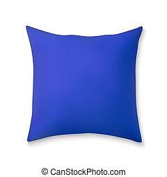 realistico, quadrato, cuscini, 3d