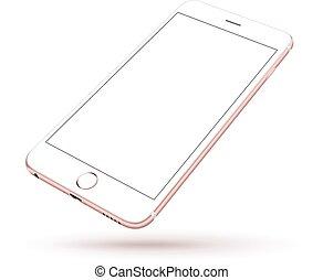 realistico, telefono, nuovo, mobile