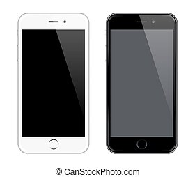 realistico, telefono, vettore, mobile