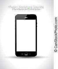 realistico, tocco, smartphone, moderno, ultra