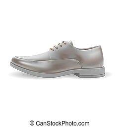 realistico, uomini, scarpe