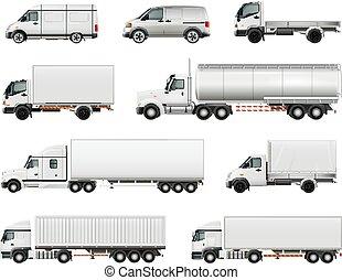 realistico, veicoli, set, carico