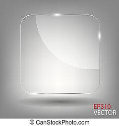 realistico, vettore, illustration., vetro, frame.