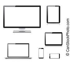realistisch, edv, laptop, tablette