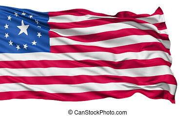 realistisch, fallout, vlag, in de wind