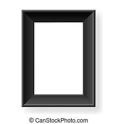 realistisch, frame, black