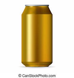 realistisch, gold, aluminium- dose