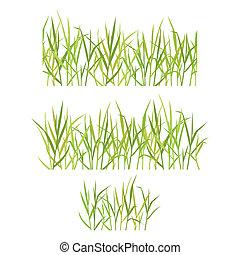 realistisch, gras, grün