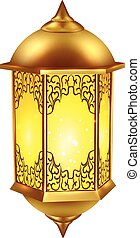 realistisch, lamp, ramadan, pictogram