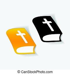 realistisch, ontwerp, element:, bijbel
