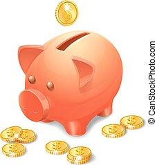 realistisch, piggy bank