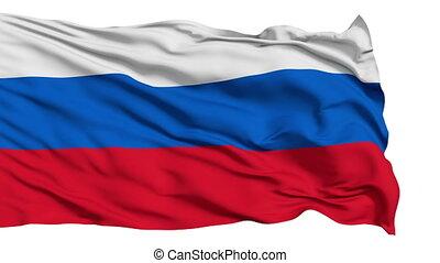 realistisch, rusland dundoek, in de wind