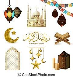 realistisch, set, ramadan, kareem