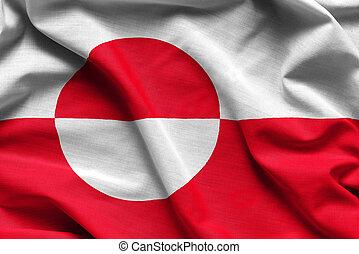 realistisch, vlag, groenland