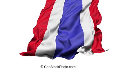 realistisch, vlag, wind, thailand