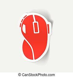 realistisk, design, element:, dator mus