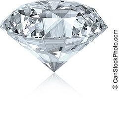 realistisk, diamant