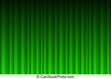 realistisk, grönt ridå