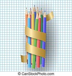 realistisk, vektor, blyertspenna