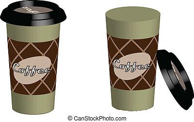 Realistyc Plastic Coffee Cup