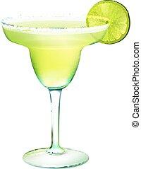 realistyczny, cocktail, margarita