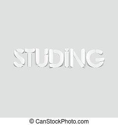 realistyczny, element:, projektować, studing