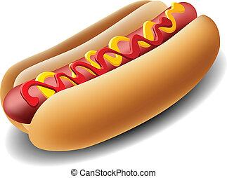 realistyczny, hot dog