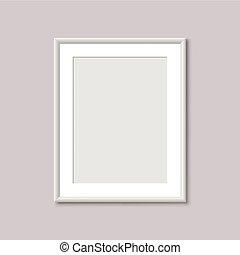 realistyczny, opróżniać, biały, obraz budowa