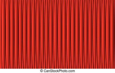 realistyczny, tło., wektor, kurtyna, curtain., czerwony