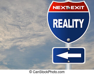 Reality road sign