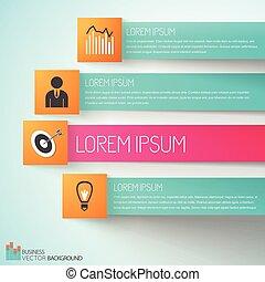 realização, meta, negócio, infographics