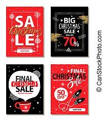 Really Big Christmas Sale Vector Illustration