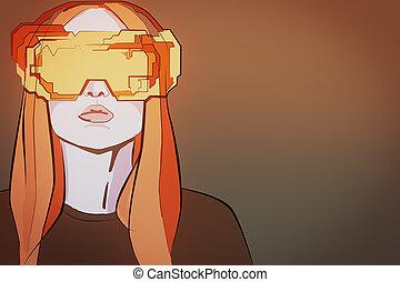 realtà virtuale, e, informazioni, concetto