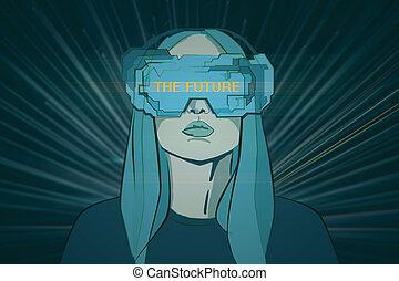 realtà virtuale, e, interfaccia, concetto