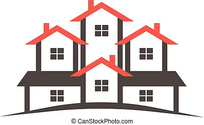 Realtor Condo houses logo. Vector graphic design