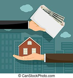 Realtor holds real estate. The buyer gives the money.
