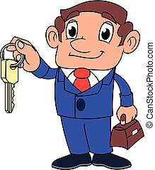 Realtor offering key to the apartment 2