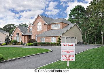 Realtor Sign Suburban Home