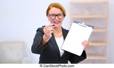 Realtor with lease or purchase agreement