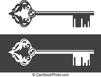 Realty Logo Decorated Key - Illustration of Realty Logo...