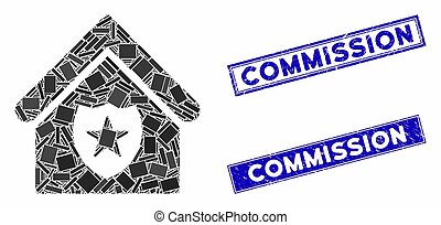 Realty Protection Mosaic and Grunge Rectangle Commission Watermarks