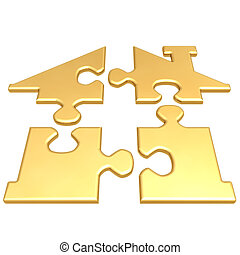 Realty Puzzle - 3D Concept And Presentation Figure