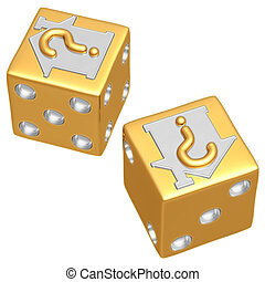 Realty Risk Dice - 3D Concept And Presentation Figure