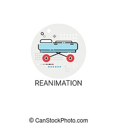 Reanimation Hospital Doctors Clinic Medical Treatment Icon...