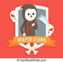 reaper clown logo